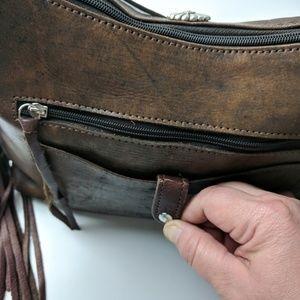 American West Bags - American West Cross My Heart Fringed Shoulder Bag